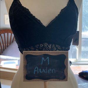 Auden black lacey Bralette MED